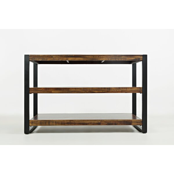 Camp Contemporary Wooden Console Table by Millwood Pines