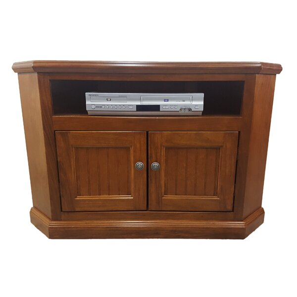 Review Berkhamstead Solid Wood Corner TV Stand For TVs Up To 48