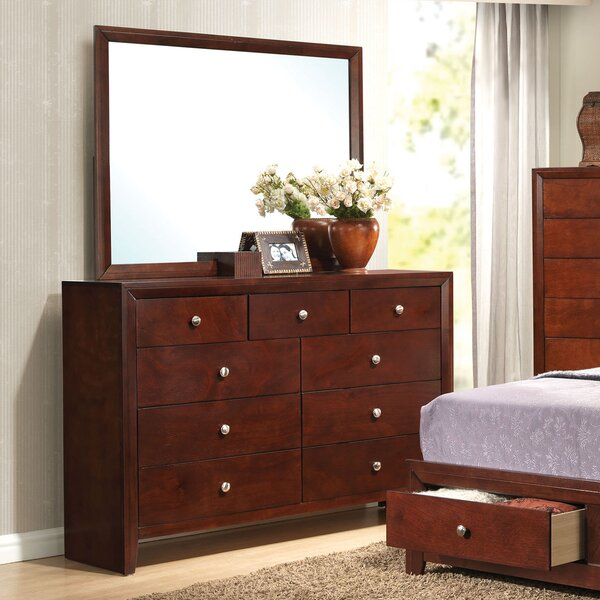 Lamonica 9 Drawer Dresser with Mirror by Red Barrel Studio