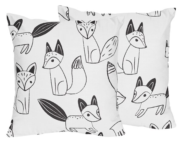 Fox Throw Pillow (Set of 2) by Sweet Jojo Designs