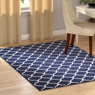 Affordable Hershman Navy Indoor Area Rug By Charlton Home