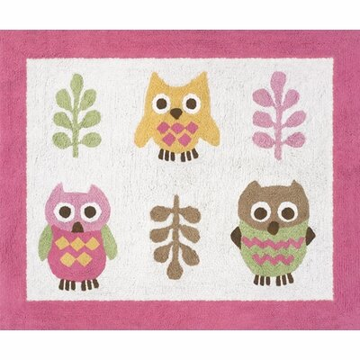 Happy Owl Kids Floor Rug by Sweet Jojo Designs