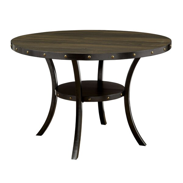 Sharlene Solid Wood Dining Table with Lower Shelf by Williston Forge