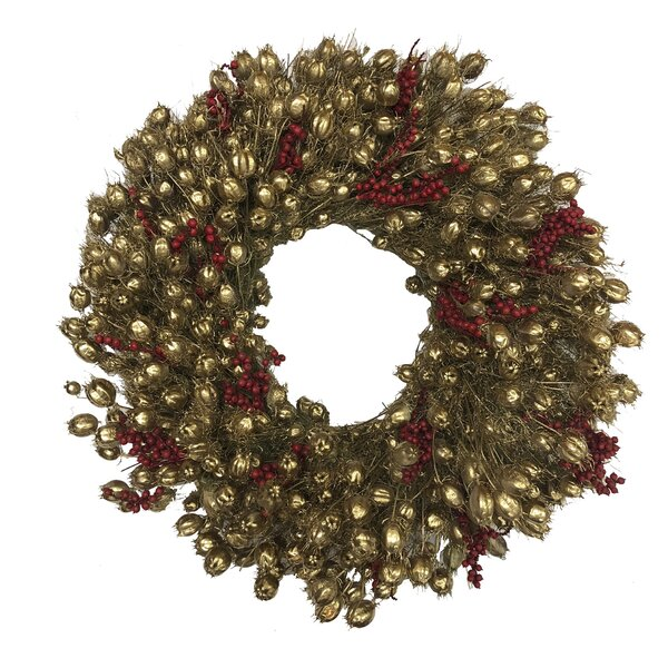 Canella Berries Wreath by Charlton Home