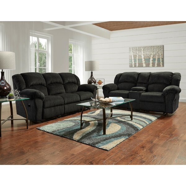 Aruba Reclining 2 Piece Living Room Set by Roundhill Furniture