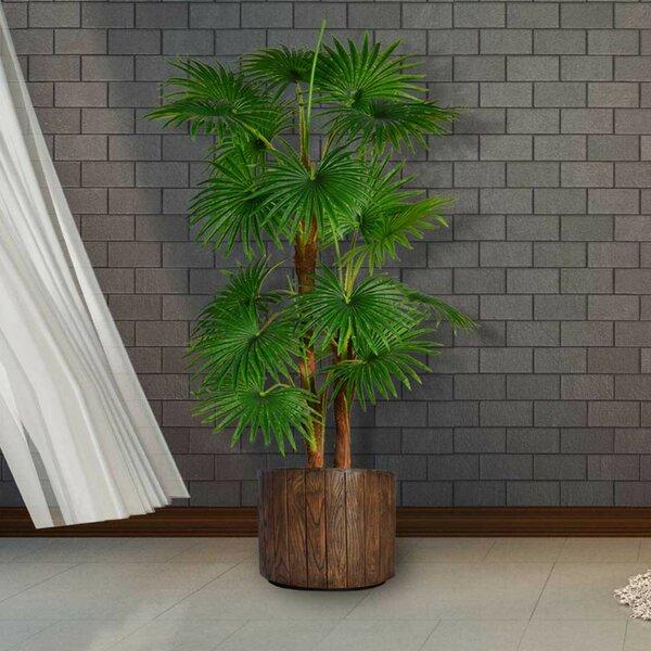Artificial Indoor/Outdoor Décor Floor Palm Tree in Planter by Loon Peak