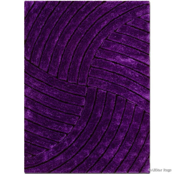 Hand-Tufted Lilac Area Rug by AllStar Rugs
