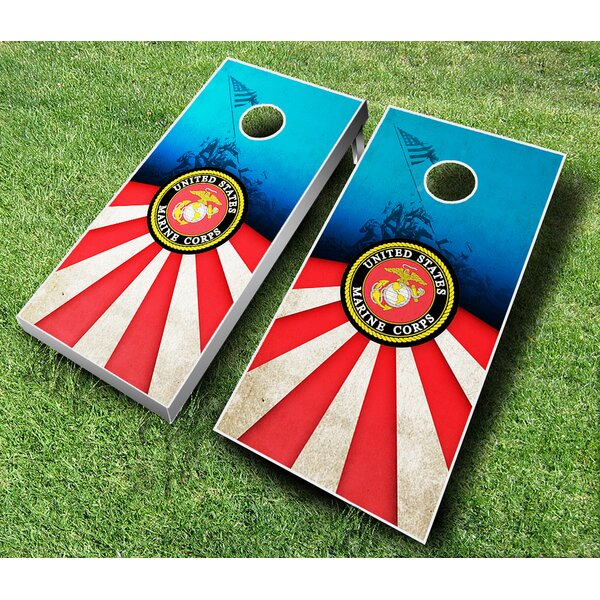 10 Piece Marines Cornhole Set by AJJ Cornhole