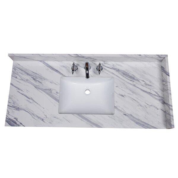 Calacatta 49 Single Bathroom Vanity Top by Renaissance Vanity
