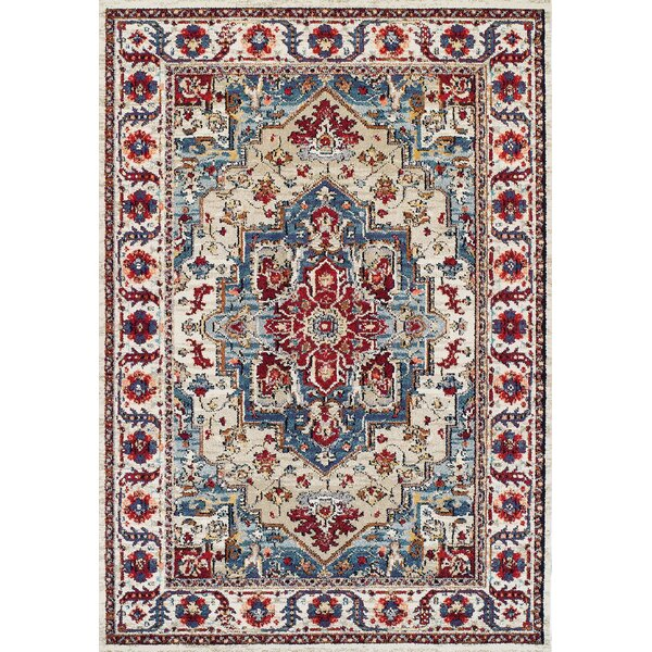 Gillison Putty/Claret Area Rug by Charlton Home