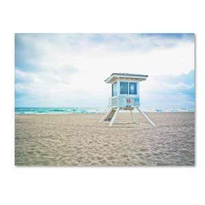 'Florida Beach Chair 2' by Preston Photographic Print on Wrapped Canvas by Trademark Fine Art