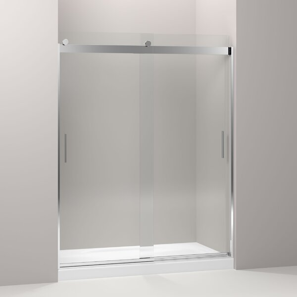 Levity 59.63 x 74 Double Sliding Shower Door with Blade Handles with CleanCoat® Technology by Kohler