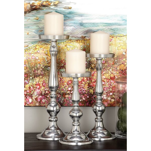 3 Piece Aluminum Candlesticks Set by Cole & Grey