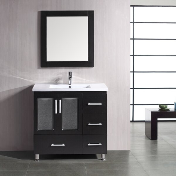 Pratt 36 Single Bathroom Vanity Set with Mirror by dCOR design