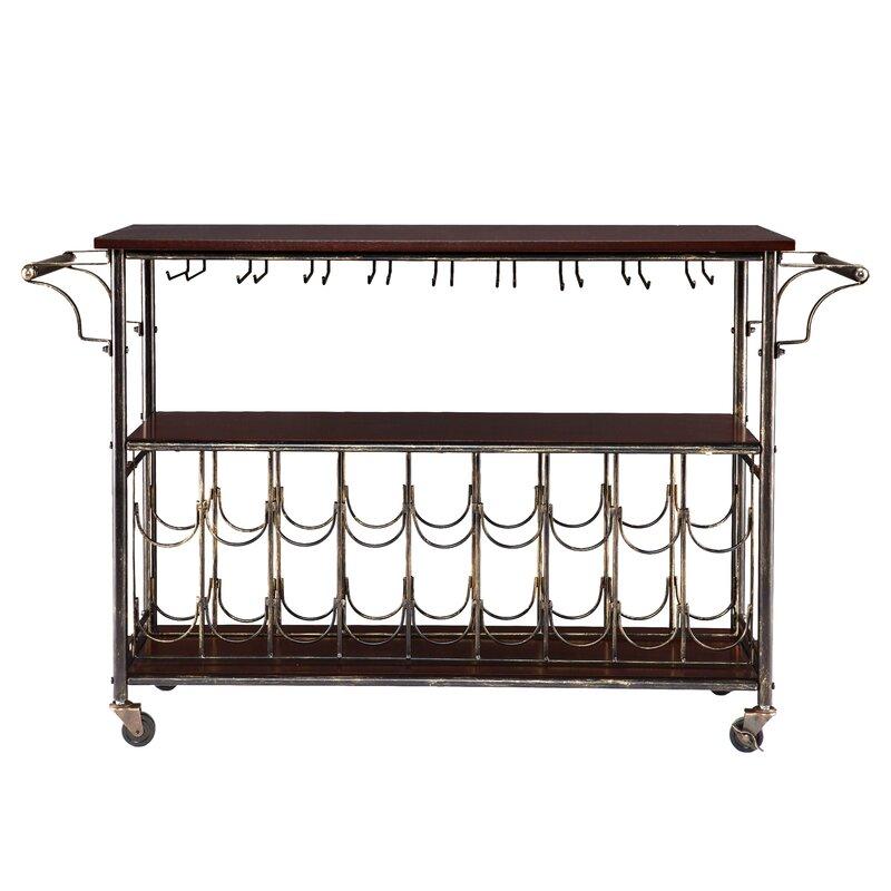 Dontos Industrial Kitchen Cart Southern Enterprises: Wildon Home ® Dalton Bar Cart & Reviews