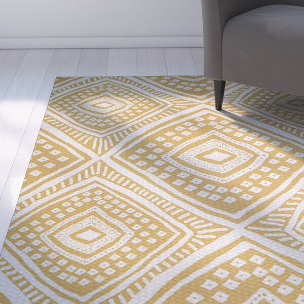 Abbie Beige/White Indoor/Outdoor Area Rug by Ebern Designs