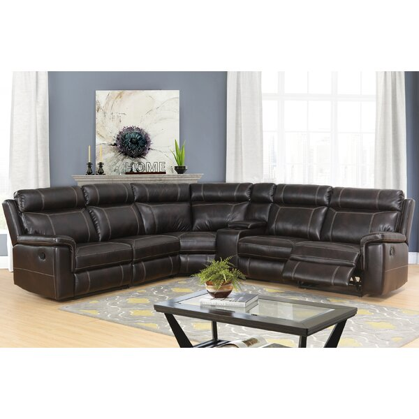 Skyler Reclining Sectional with Console by Darby Home Co