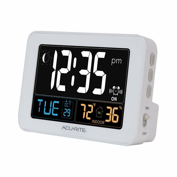AcuRite Intellitime Tabletop Clock with USB by Cha