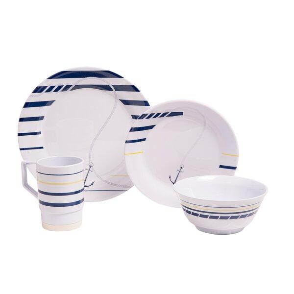 Ariya Melamine Gift 16 Piece Dinnerware Set, Service for 4 by Longshore Tides