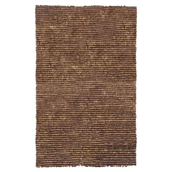 Hand-Hooked Brown Area Rug by The Conestoga Trading Co.
