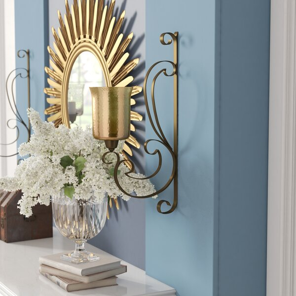 Gorgeous Metal Glass Sconce by Darby Home Co