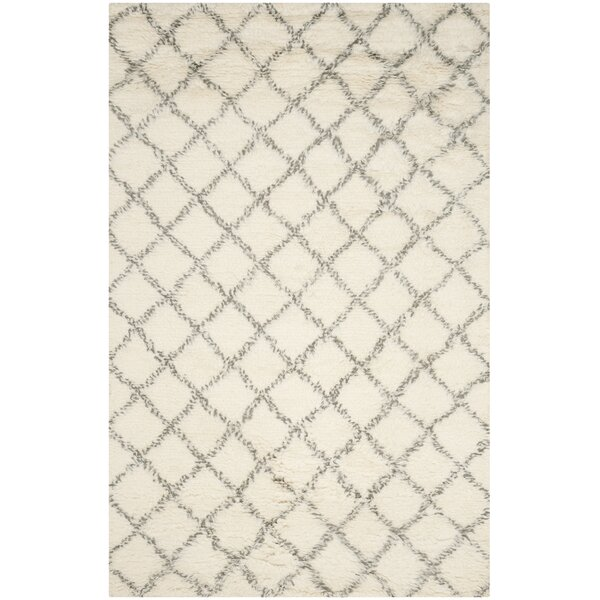 Friary Hand-Woven Ivory/Grey Area Rug by Corrigan Studio