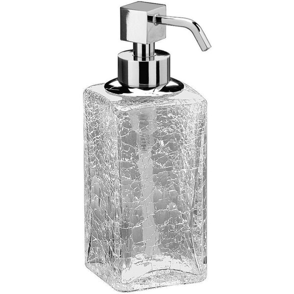 Manna Box Crackled Glass Table Pump Soap & Lotion Dispenser by Latitude Run