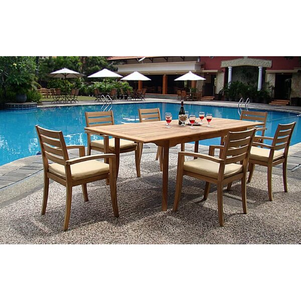 Breanna Luxurious 7 Piece Teak Dining Set by Rosecliff Heights