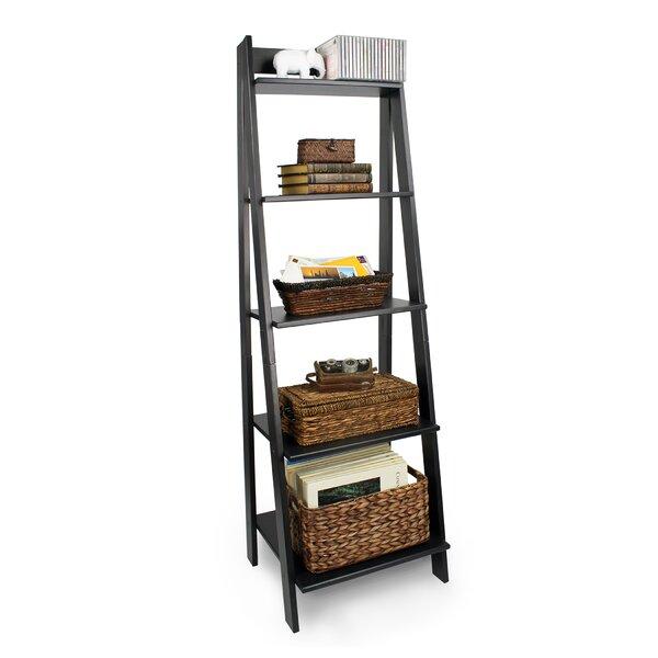 Matt Split 5 Shelf Ladder Bookcase by Andover Mills
