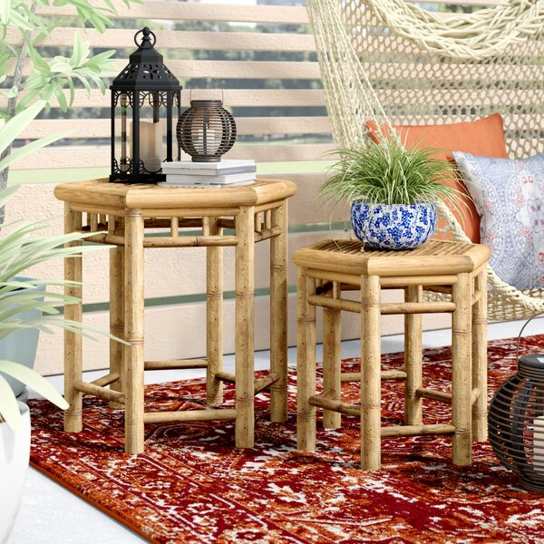 Kapono 2 Piece Side Table Set by Bloomsbury Market