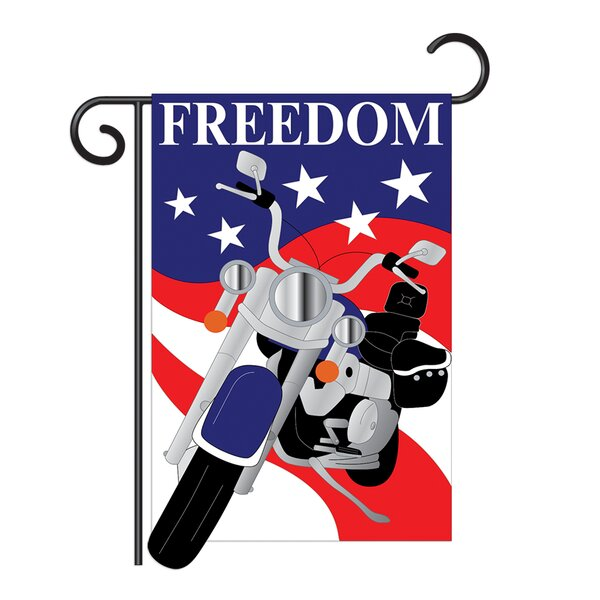 Freedom 2-Sided Vertical Flag by Breeze Decor