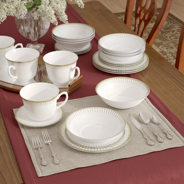 Deakin 24 Piece Dinnerware Set, Service for 4 by Astoria Grand