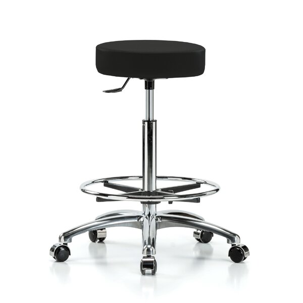 Height Adjustable Swivel Stool with Foot Ring by Perch Chairs & Stools