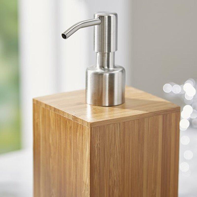 defoe bamboo 5-piece bathroom accessory set & reviews | allmodern