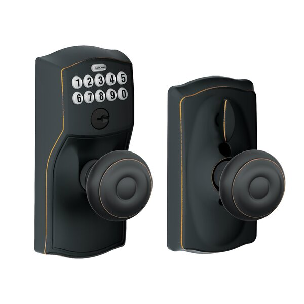 Georgian Keypad Knob with Camelot Trim by Schlage