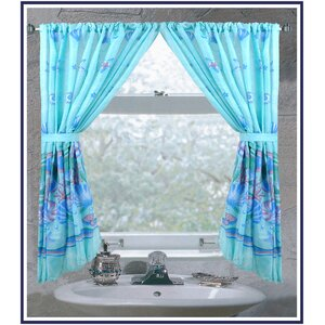 Oceanic Nautical Rod Pocket Curtain Panels (Set of 2)