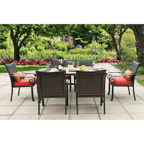 Dauphin 7 Piece Dining Set with Cushions by Red Barrel Studio