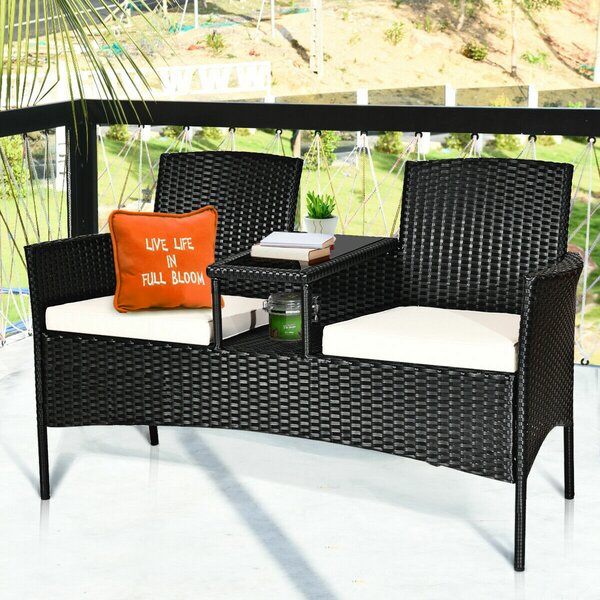Penalosa 3 Piece Rattan Seating Group with Cushions by Latitude Run