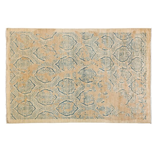 One-of-a-Kind Oushak Hand-Knotted Ivory Area Rug by Darya Rugs