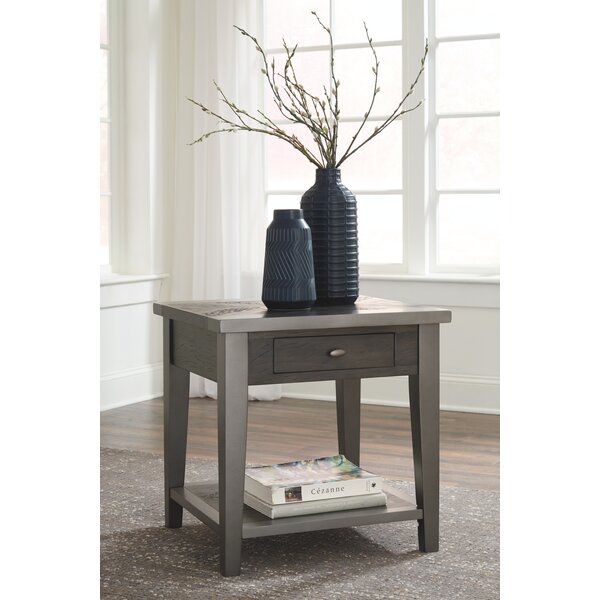 Dinan End Table With Storage By Gracie Oaks