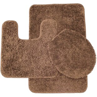 Bon Brown Bathroom Rug Sets | Wayfair