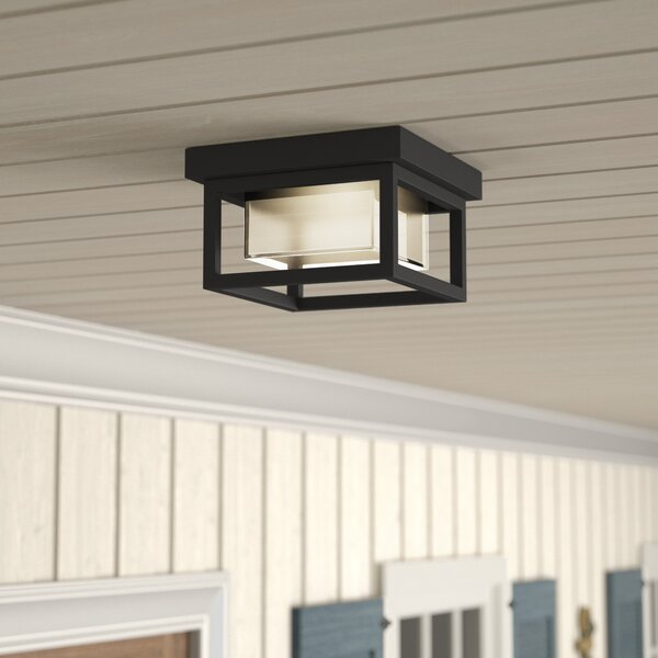 Tecca 1-Light Outdoor Flush Mount by Longshore Tid