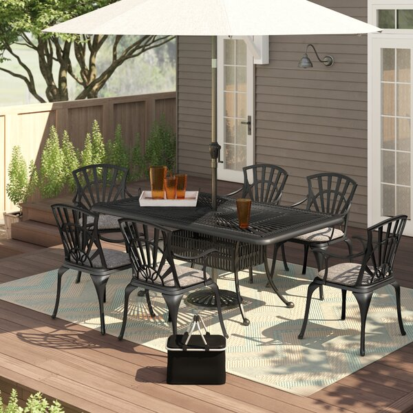 Keesler 7 Piece Dining Set with Cushions by Astoria Grand