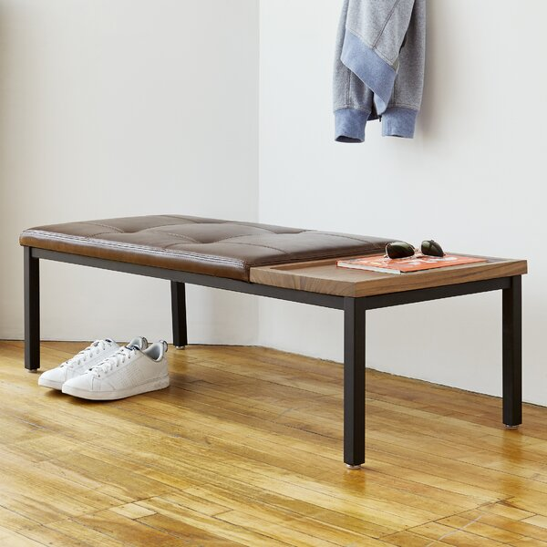 Carlaw Leather Bench By Gus* Modern 2019 Sale