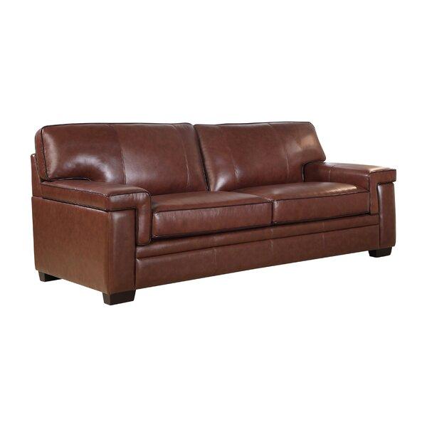 Cabott Leather Sofa by Three Posts