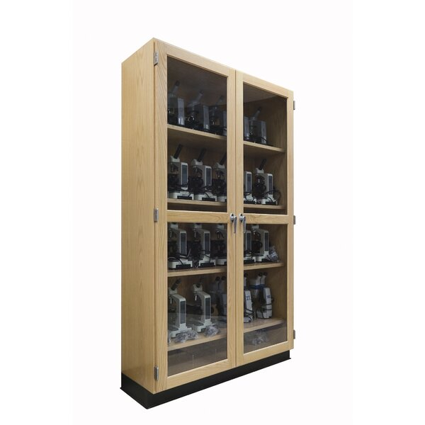 Microscope 8 Compartment Classroom Cabinet with Doors by Diversified Woodcrafts