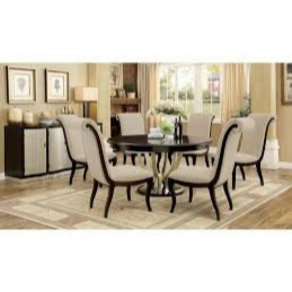 Moreno Contemporary 7 Piece Extendable Solid Wood Dining Set by Winston Porter