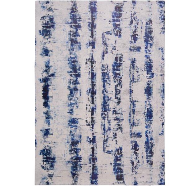 Calm Step Comfort Foam Blue/Gray Area Rug by Nicole Miller