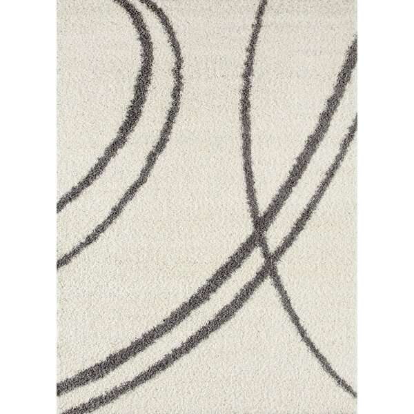 Caressa Line Cream Area Rug by Zipcode Design