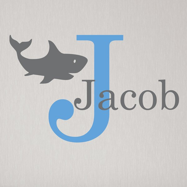 Shark Initial Personalized Wall Decal by Alphabet Garden Designs